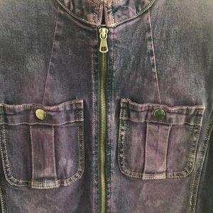Rubbish Jackets & Coats - Nordstrom Rubbish Cotton spandex purple denim